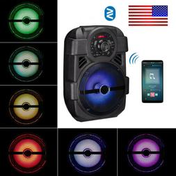 Rechargeable Bluetooth LED Party Speaker Woofer Portable Tra
