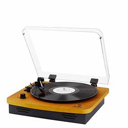 Record Player Turntables For Vinyl Records 33 45 78 RPM With