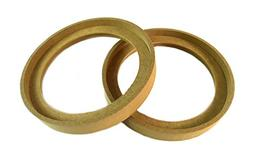 """1 Pair 6.5"""" RING-6.5BZ MDF Speaker Ring Recess With Bezel MO"""