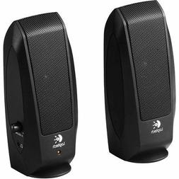Logitech S-120  Stereo Speaker System With AUX Headphone Jac