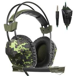 SA921Plus 3.5mm Wired Over Ear Stereo Gaming Headset Headban