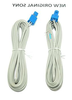 2x  New Sony Blue Speaker Cord Wire Cable With Connector 183