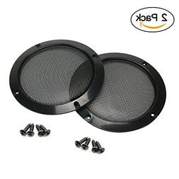 2 pcs Speaker Grills Cover Case with 8 pcs Screws for 8 Inch