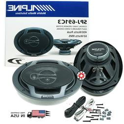 "ALPINE SPJ-691C3 6x9"" POWERFUL BASS TYPE-J COAXIAL 3-WAY 400"