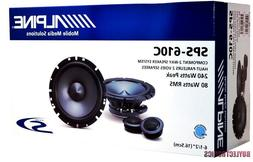 "Alpine SPS-610C 6-1/2"" Component Car Speakers/ 6.5"" Car Audi"