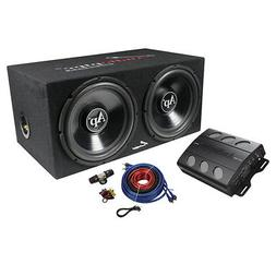 Audiopipe Super Bass Combo pack 600W Max Dual 12 Loaded Box