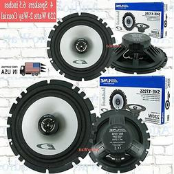 "Alpine SXE-1750S 6.5"" Component Speakers + SXE-1725S 6.5"" Co"