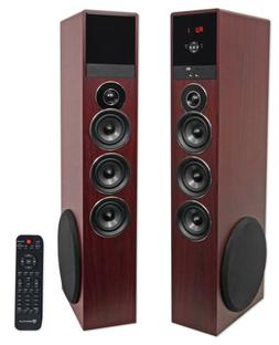 Rockville TM150C Cherry Powered Home Theater Tower Speakers