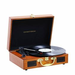 Turntable Portable Suitcase Record Player with Built-in Spea