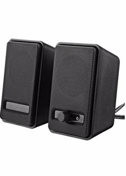 AmazonBasics USB-Powered Computer Speakers A100 Black Brand