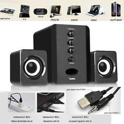Mini USB Wired Computer Speaker Stereo Subwoofer Soundbox fo