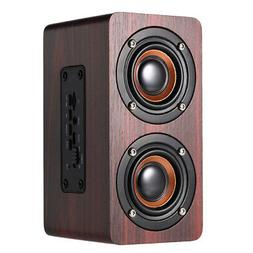wooden subwoofer wireless bluetooth speaker hifi stereo bass